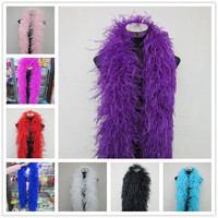 Wholesale 6 Layer fluffy ostrich feather boa 20 Meter skirt Costumes/Trim for Party/Costume Craft ostrich feather decorations