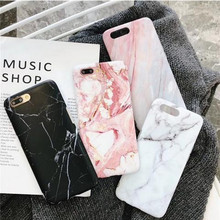 Luxury Marble Pattern Phone Case for iPhone 7 For X 6 6S 8 Plus Cover XS MAX XR 7Plus 8Plus Coque