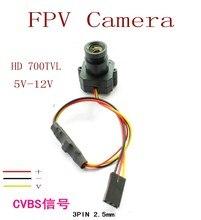 Free shipping New Micro FPV Camera HD Mini 700TVL 3.6mm Wide Angle Lens CCTV Camera FPV aerial Cameras, FPV Accessories Camera