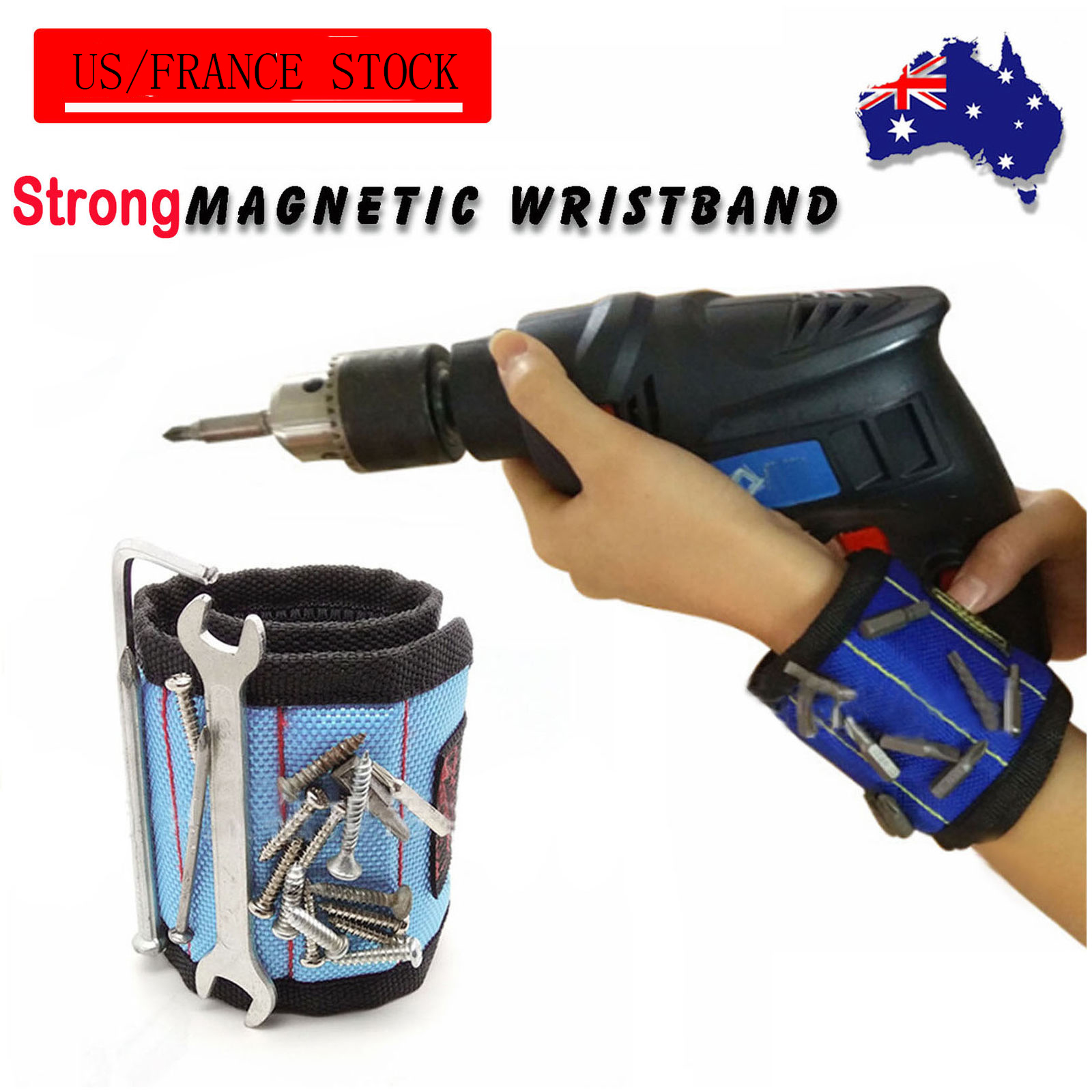 Hot Sale Magnets Screws Nails Drill Bits Electrician Bag Magnetic Wristband Portable Small Tool Bag Magnetic Bracelet For Tools