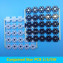 50 pcs Conjoined LED star PCB Board for 1W 3W 5W High Power LEDs Heatsink base 20mm White Black Aluminum Plate for LED Lamp DIY