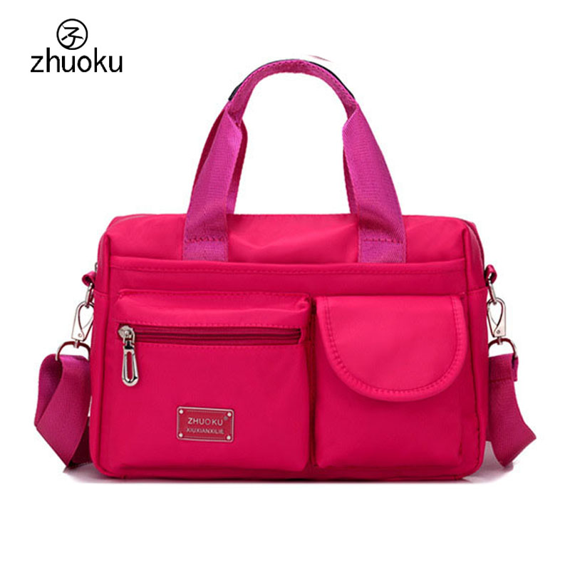 Fashion Women Handbag Messenger Bags High Quality Waterproof Nylon Ladies Handbags Shoulder Crossbody Bag For Female New  ZK1005 2017 new elegant handbag for women high quality split leather female tote bags stylish red black gray ladies messenger bag