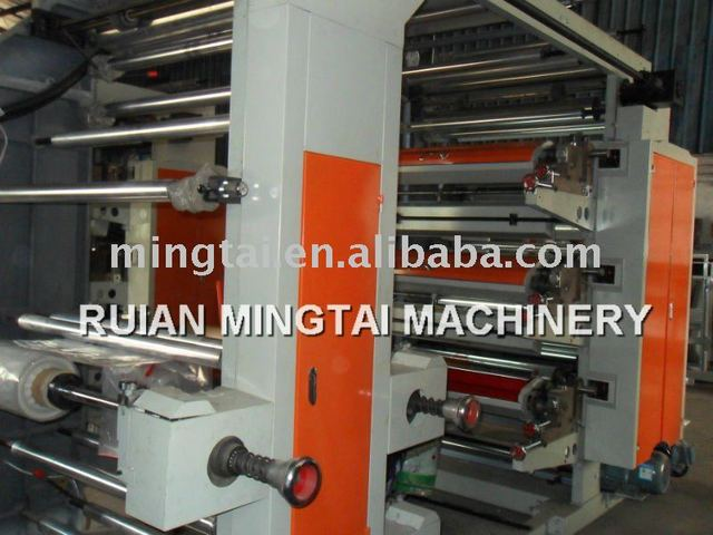 6 Six Colors / Colour Plastic Bag Roll Printing Machine
