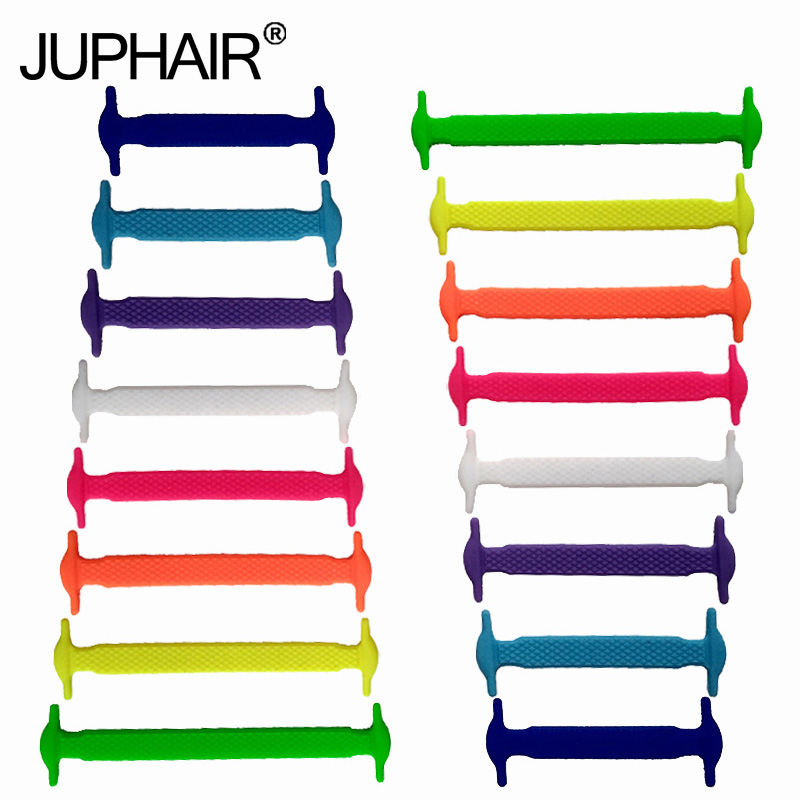 New 1 Set 16 Pcs New Women Mens No Tie Shoelaces All Sneakers Applicable Shoelaces Elastic Silicone Shoelaces Sneakers Fit Belt jup 3 set 12root set noctilucent laces tie elastic silicone mens women fluorescent flash sneakers sports runnings shoelaces