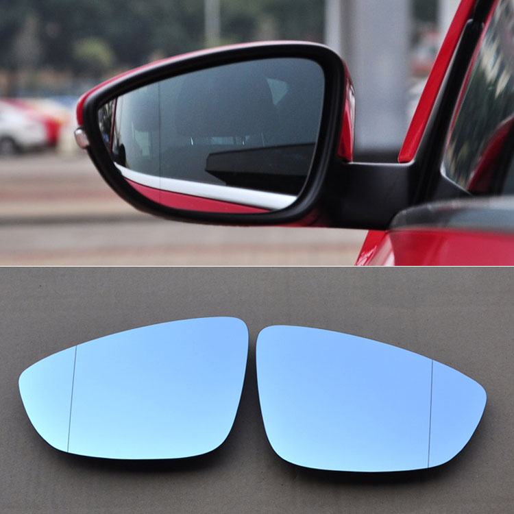 Ipoboo 2pcs New Power Heated w/Turn Signal Side View Mirror Blue Glasses For Volkswagen Beetle