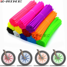 купить 72 pcs Universal Moto Dirt Bike Enduro Off Road Wheel RIM Spoke Skins covers for KAWASAKI 500 CR YZ RM KX CR KTM 150 YAMAHA 450 дешево