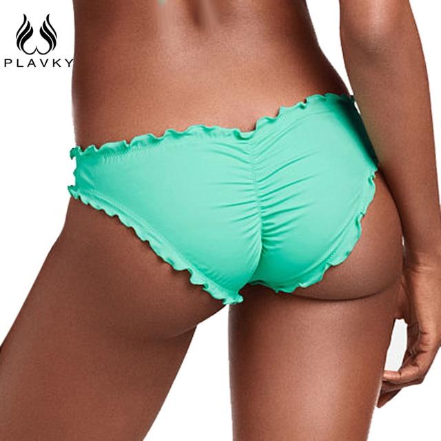 8294d73d7c1 PLAVKY Women Swimwear Bikini Bottoms Bow Bottom Brazilian Cheeky Bikini  Bottom Swimsuit Thong Biquini Bikinis