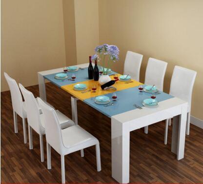 Mesa de comedor y silla combinación. Mesa retráctil. Mesa plegable ...