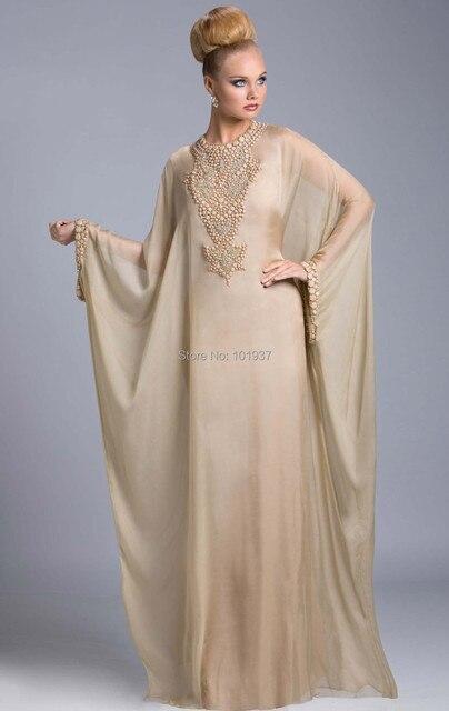 Custom Made Elegant New Beads Kaftan Dress Dubai Kaftan Evening