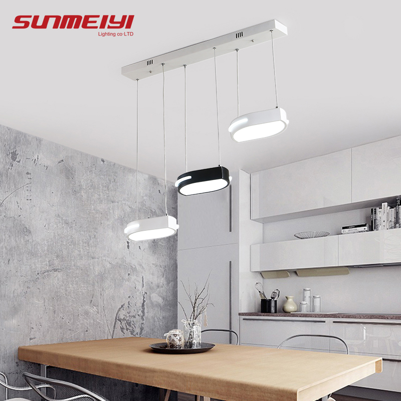 Современные светодио дный подвесные светильники черный/белый листья подвеска освещение hanglampen столовая Кухня гостиной блеск pendente