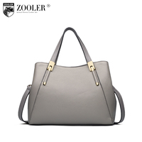 2017 New women leather handbag middle aged genuine leather bag solid shoulder bags ladies famous brands bolsos mujer#V100