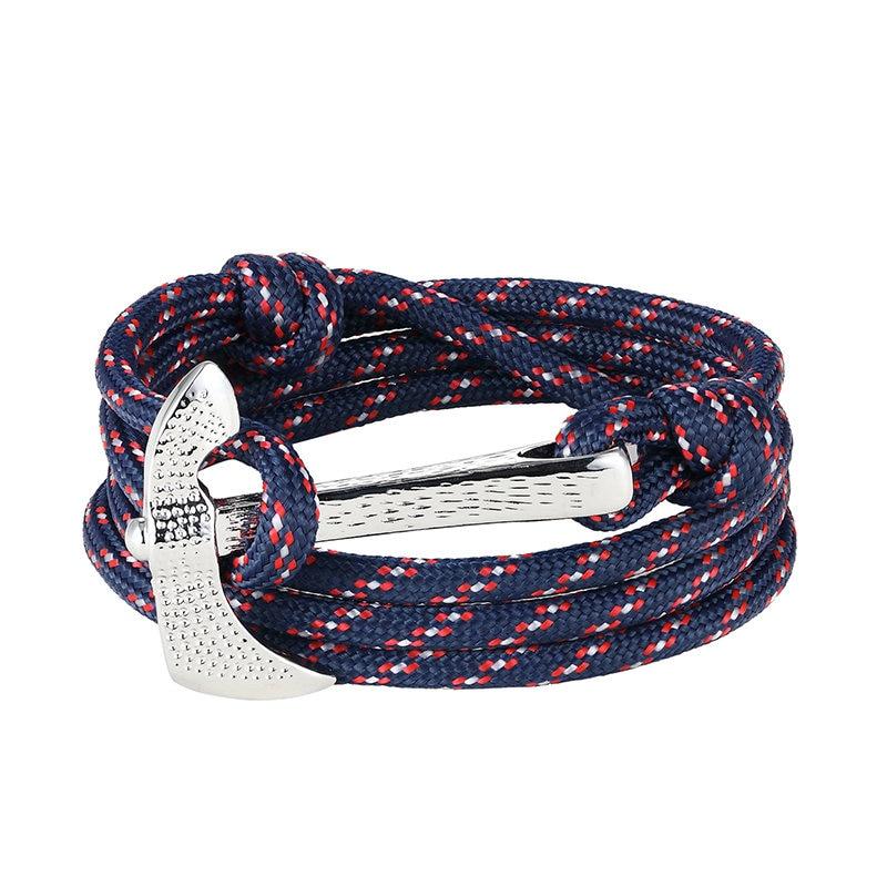 LIVVY 2017 Europa tipo pulsera de cuero estilo hacha adornan artículo Tom esperanza encanto pulsera hombres mujeres joyería AS195