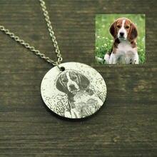 Гравировка ожерелье с фото на заказ для вашего питомца кулон
