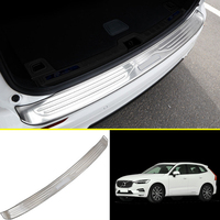For Volvo XC60 2018 Stainless Outer Rear Bumper Guard Plate Cover Decoration Sticker Cover Car Styling