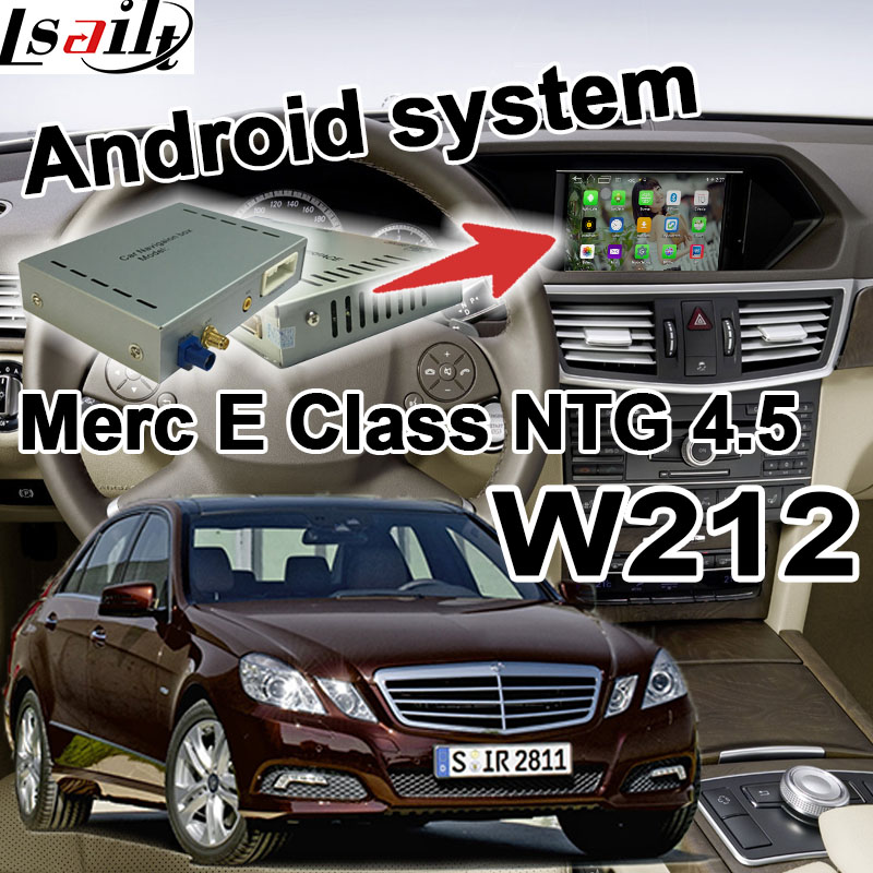 US $382 5 15% OFF|Android GPS navigation box for Mercedes benz E Class W212  NTG 4 5 COMMAND AUDIO20 video interface box waze youtube with carplay-in