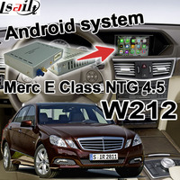 Android GPS navigation box for Mercedes benz E Class W212 NTG 4.5 COMMAND AUDIO20 video interface box waze youtube with carplay