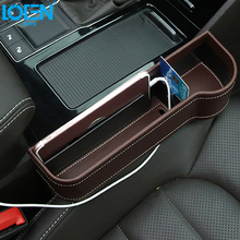 1PCS PU Leather Car Armrest Storage Box Seat Gap Organizer Drink Holder Stowing Tiding Universal For Phone Coin Wallet 4 Colors