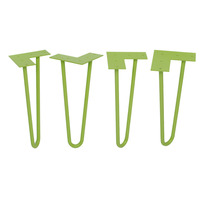 12 Inch Hairpin Legs For Your Diy Project Set Of 4 Tall GreenCoated For Long Lasting