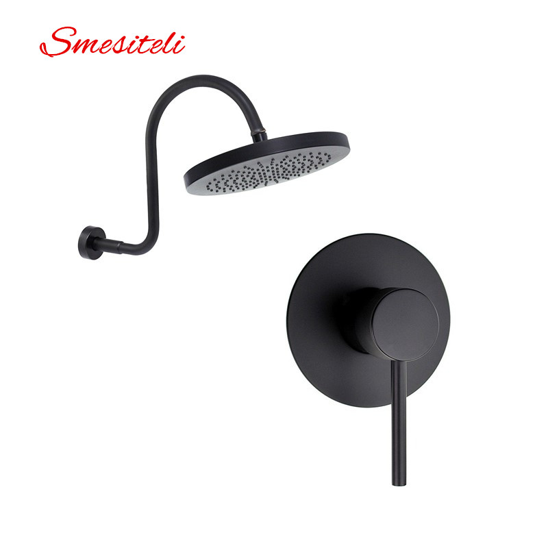 Smesiteli 10 Year Warranty Soild Brass Matte Black Rain Shower Head and S Shower Arm with Single function valve  Shower Set 450260 b21 445167 051 2gb ddr2 800 ecc server memory one year warranty