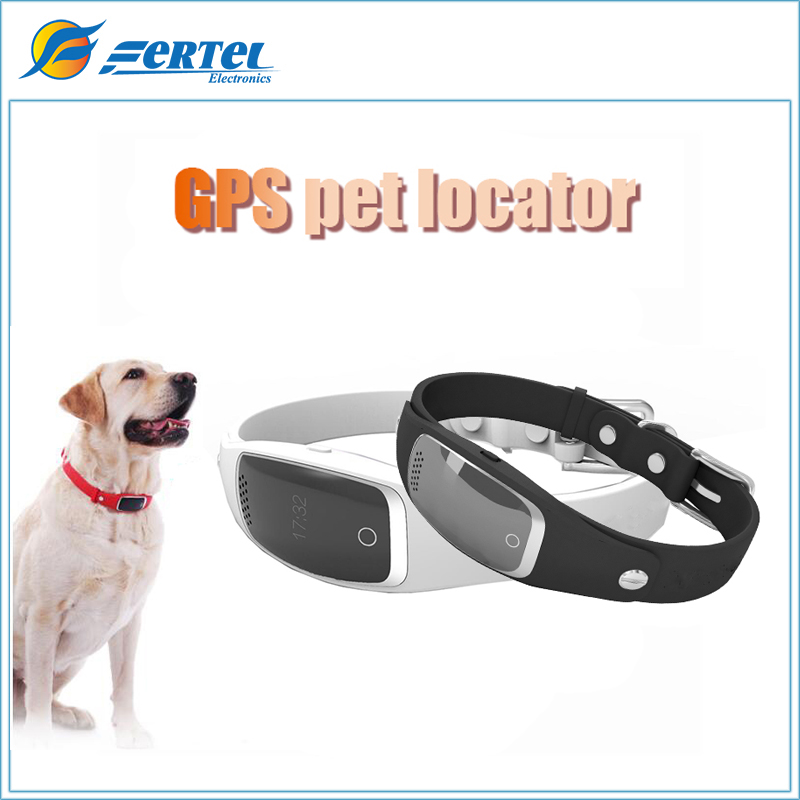 Luxury Silicone Dog Pet Collar GPS WIFI Positioning Smart Activity Tracker Anti