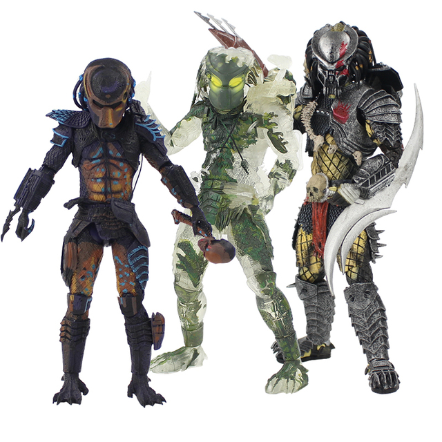 20-22cm NECA Aliens vs Predator Jungle Hunter Figure Toy Demon Scarface Spear Trophy Skull Figurine PVC Model Collectible Doll