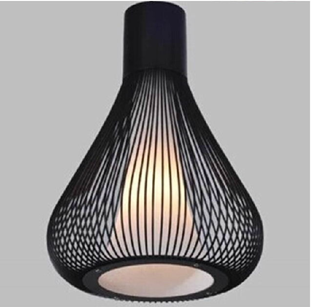 Black wrought iron pendant light italy design modern birdcage black wrought iron pendant light italy design modern birdcage hanging lamp dining room kitchen decorative lighting fixture in pendant lights from lights aloadofball Image collections