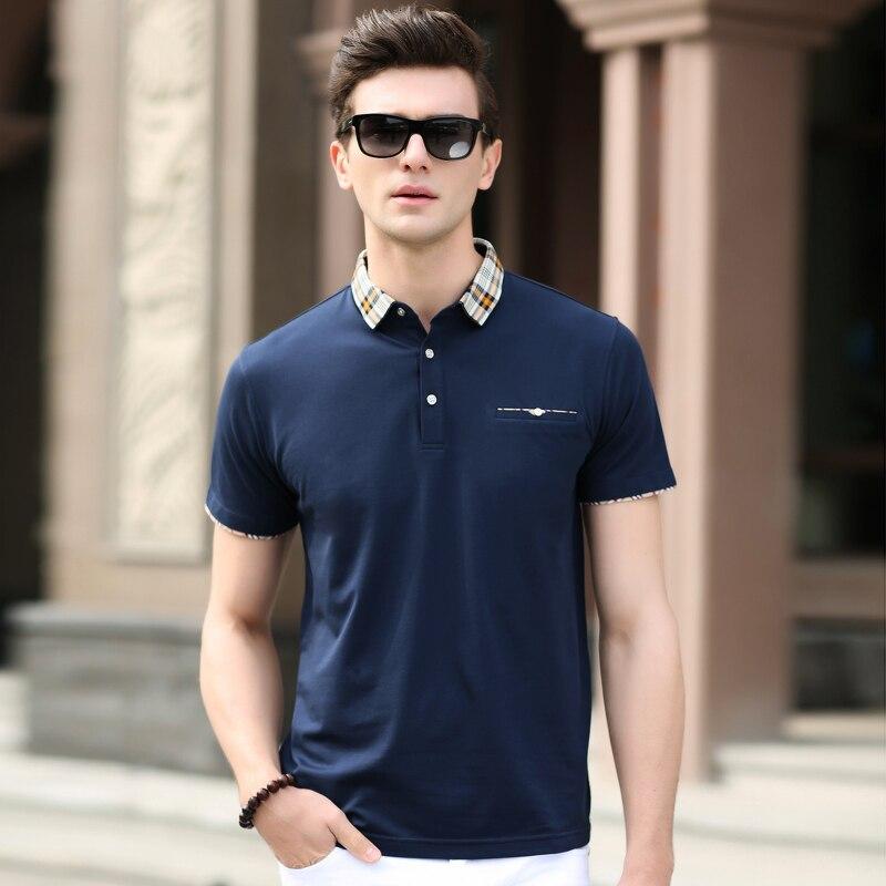 666fe4b2e Alta qualidade dos homens de moda de nova plain cor do verão camisa pólo