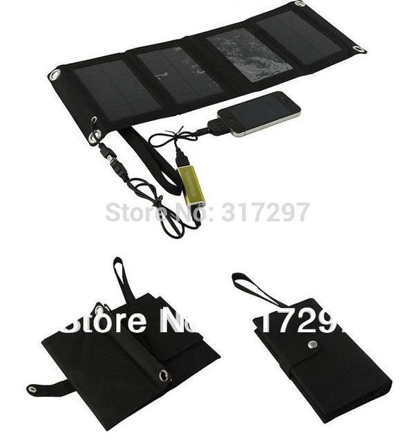 7.2 Vatio de Energía Solar Cargador de Teléfono Portátil de Batería Solar para el Teléfono Inteligente + Diseño de La Carpeta + Mono Panel Solar