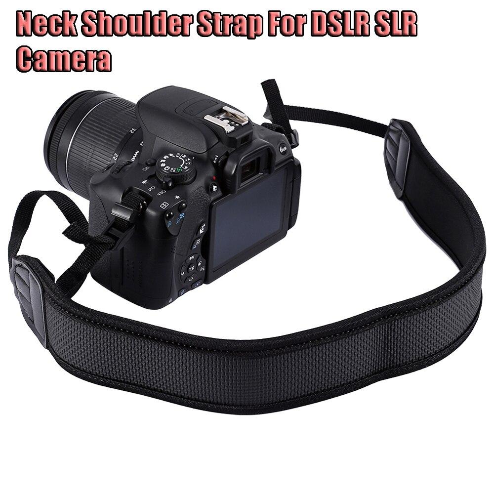 For Canon Nikon Sony Fujifilm Instax Camera Skid Proof Adjustable Neoprene Neck Shoulder Strap For DSLR SLR Camera Sling Belt