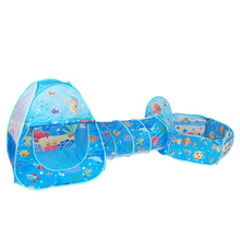 3Pcs/Set toy Tent Baby Kids Play Portable Foldable Pop Up Tunnel Basketball Game Tent Children Outdoor Sports Play toys Tent недорого