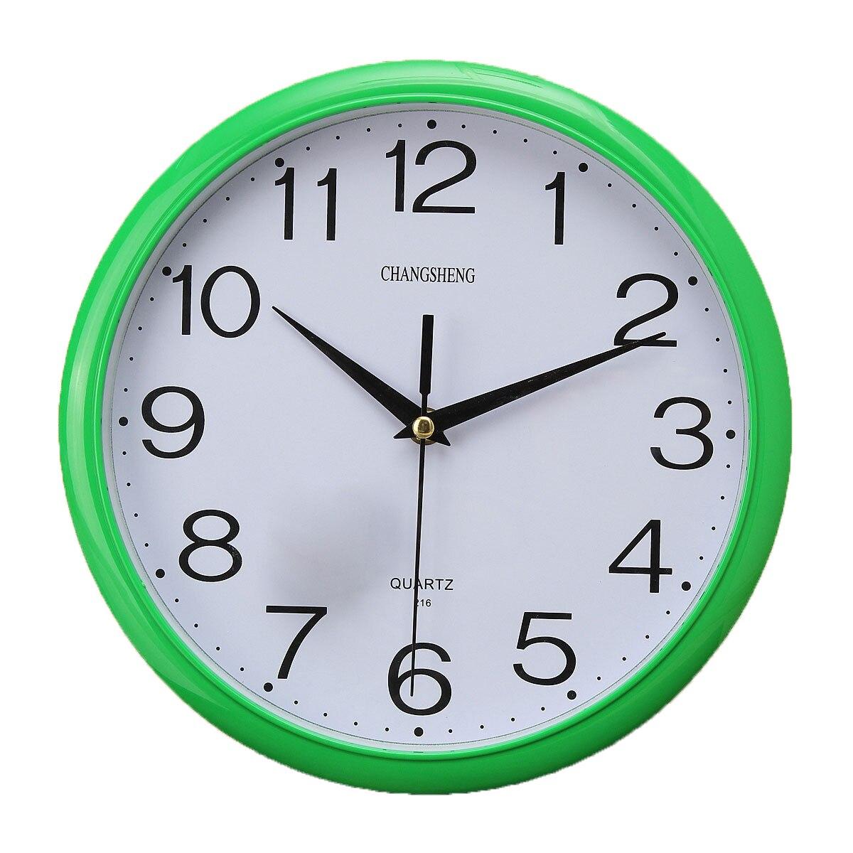 Best Large Vintage Round Modern Home Bedroom Retro Time Kitchen Wall Clock  Quartz Green(China