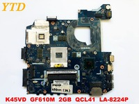 Original for ASUS K45VD laptop motherboard K45VD GF610M 2GB QCL41 LA 8224P tested good free shipping