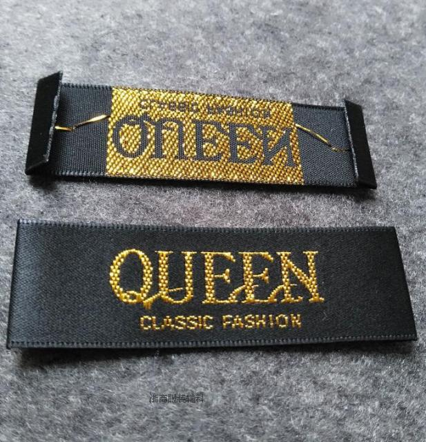 Custom clothing satin woven labels garment embroidered Woven t shirt tags