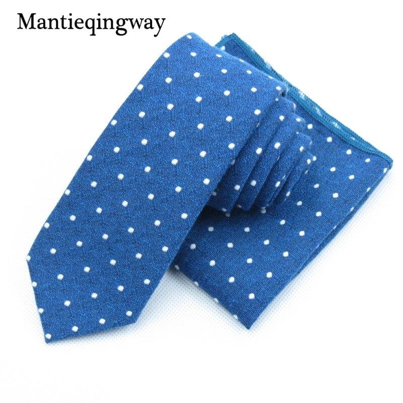 Mantieqingway хлопок Средства ухода за кожей шеи галстук платок Наборы для ухода за кожей для мужские горошек печатных Тощий Средства ухода за кож...