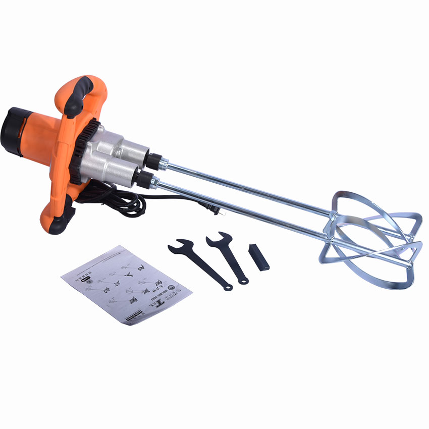 ZYHM-50 Hand Paint Mixer DOUBLE shaft professional Electric Double putty coating mixing machine tools 1350w