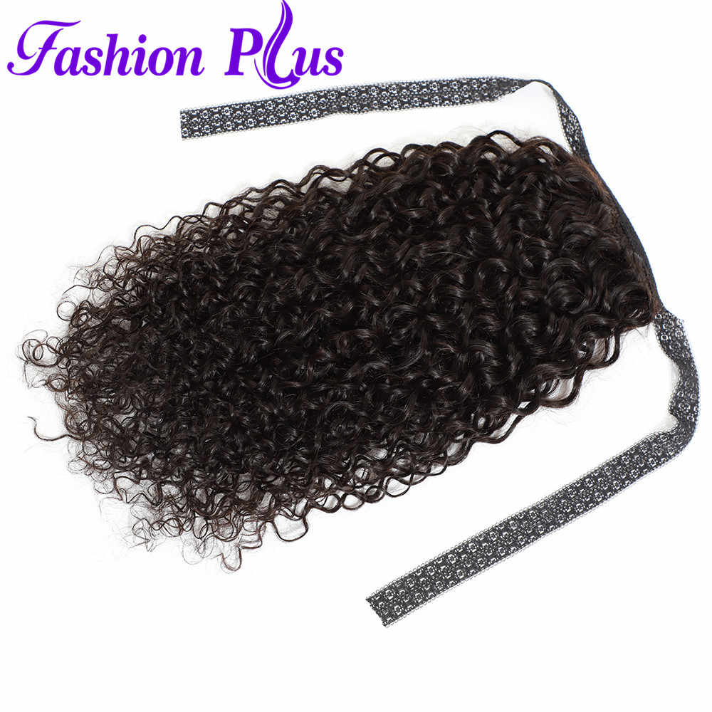 Drawstring Ponytail Curly Hair Extensions 100% Ponytail Human Hair Extension 10-26 Inches Clip In Pony Tail