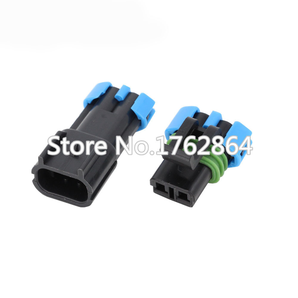 10sets Female Male Gm 2 Pin Weather Pack Waterproof Sensor Fan Wiring Connectors Electronic Connector Auto Wire Dj7025w 28 11 21 In From Lights