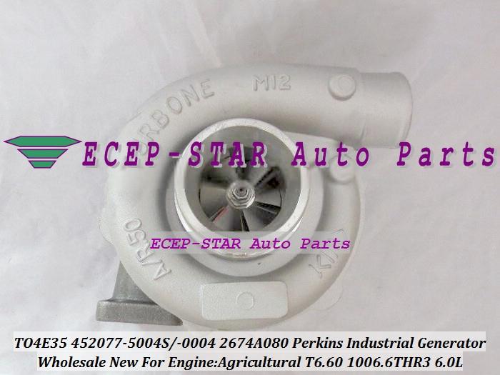 T04E35 452077 452077-0004 4520770003E 2674A080 Turbo For PERKIN Agricultural Industrial Generator 1994- T6.60 1006.6THR3 6.0L D