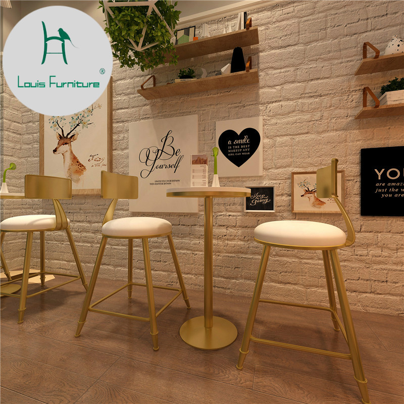 Louis Fashion Nordic Dining High Foot Discussion Solid Wood Small Round Table Milk Tea Shop Bar Tables Aliexpress