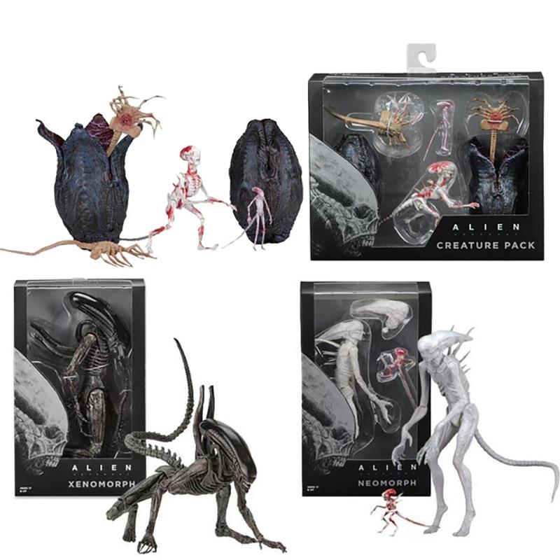 AVP Aliens vs Predator Figure Series Alien Covenant Xenomorph Neomorph Creature Pack PVC Action Figures collectable Model Toy