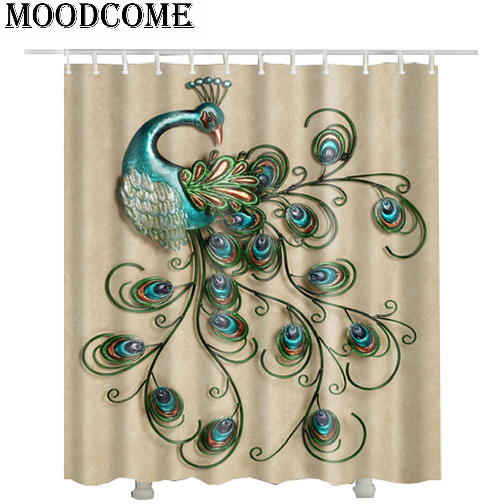 Peacock Shower Curtain Waterproof Hot Sale 3d Fashion Bathroom Curtains Printed In From Home Garden On Aliexpress