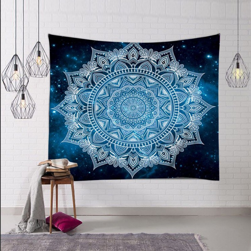 """""""Cosmic Opening"""" Indian Blue Mandala Tapestry / Ceiling Hanging / Bed Cover + AAEONIX Energy Balancing Kit"""