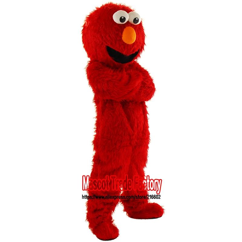Fabrika birbaşa yüksək keyfiyyətli satılır Uzun Fur Elmo Mascot - Karnaval kostyumlar - Fotoqrafiya 6