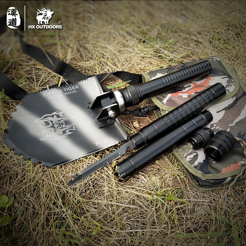 Camping Shovel Survival Spade Outdoor Knife Multifunction Folding Shovel Tactical Hunting Military Carbon Steel Sapper Shovels professional military tactical multifunction shovel outdoor camping survival folding portable spade tool equipment hunting edc