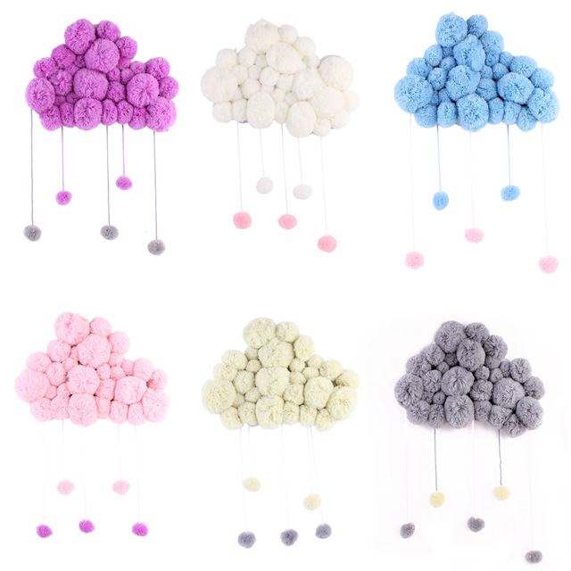 Short Coral Velvet Hairball Newborn Baby In The Crib Infant Room Decor Photography Props Baby Bedroom Decoration Pacifying Toys