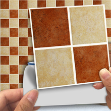 Vintage Brick Matte Square Mosaic 3D Wall Sticker Waterpoof Wallpaper for Bathroom Kitchen Home Decor Anti Oil PVC Vinyl Decal