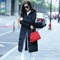 2017 moda inverno de ultra longo parágrafo plus size espessamento de algodão acolchoado das mulheres para baixo casaco jaqueta parkas over-the-na altura do joelho casaco