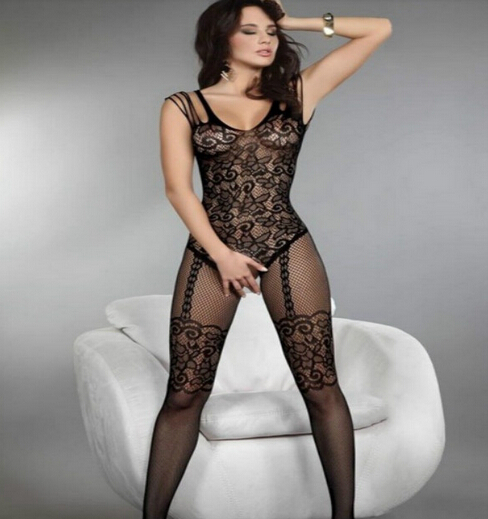 Женская сексуальность открыть кротч ажурные чулки тела боди колготки белье черный qf001-1 corest