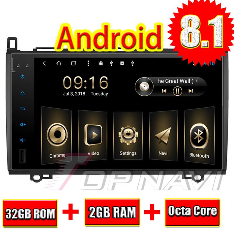 Voiture GPS Navigation Android 8.1 pour Benz B200 2009 Topnavi Auto Ram 2G 32G stockage Auto 3G Dongle caméra arrière gratuite multimédia