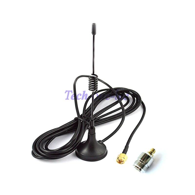 10 pièces antenne GSM 433 Mhz 5dbi SMA connecteur droit pour Radio jambon + 10 pièces SMA femelle à N adaptateur femelle